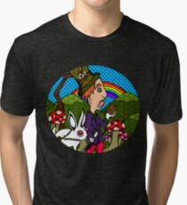 Mad Hatter & Rabbit Tri-blend T-Shirt
