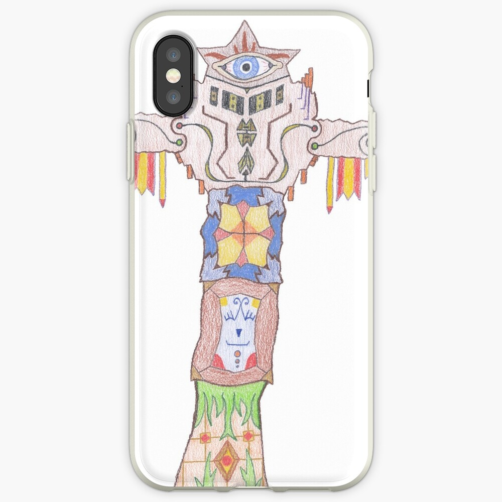 Merch #14 -- All-seeing Tassles Totem. iPhone Case & Cover