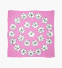 Pink Camellia Pattern Scarf