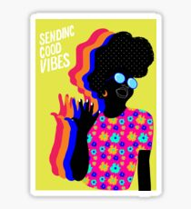 Envoi de bonnes vibrations Sticker