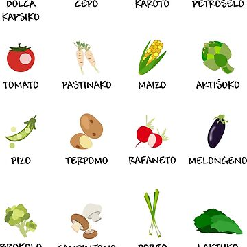 Legomoj - Vegetables in Esperanto by jonizaak