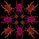 Neon Spider Circle by errorface