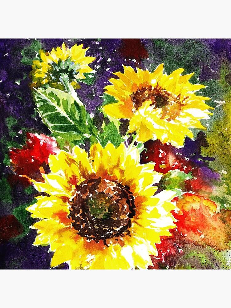 Impressionistic Sunflowers by IrinaSztukowski