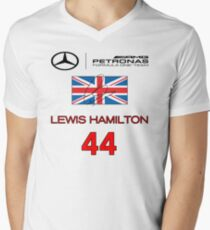 Lewis Hamilton Men's V-Neck T-Shirt
