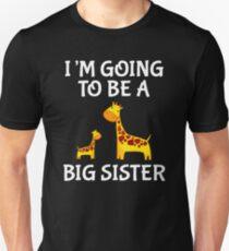 Going To Be A Big Sister Giraffe Daughter T-shirt Slim Fit T-Shirt
