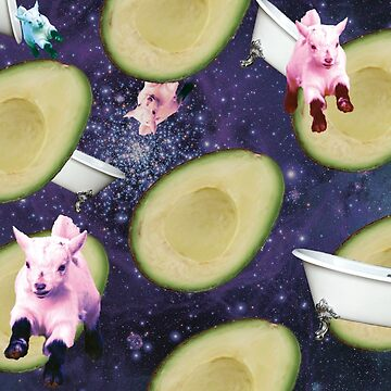 Galactic Bathroom Goats Attack by Stixi