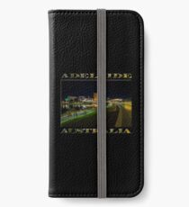 Adelaide Riverbank at Night III (poster on black) iPhone Wallet/Case/Skin