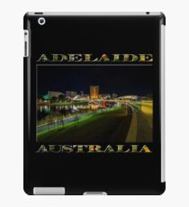 Adelaide Riverbank at Night III (poster on black) iPad Case/Skin
