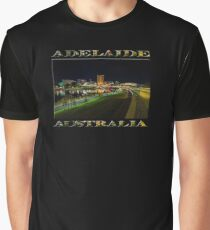 Adelaide Riverbank at Night III (poster on black) Graphic T-Shirt