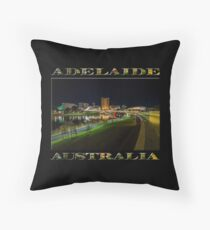 Adelaide Riverbank at Night III (poster on black) Throw Pillow
