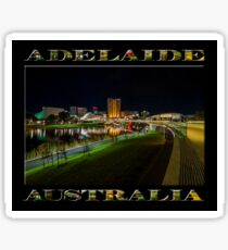 Adelaide Riverbank at Night III (poster on black) Sticker