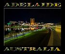 Adelaide Riverbank at Night III (poster on black) by Ray Warren