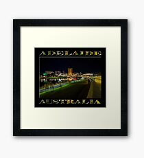 Adelaide Riverbank at Night III (poster on black) Framed Print