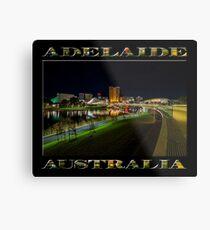 Adelaide Riverbank at Night III (poster on black) Metal Print