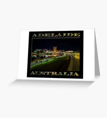 Adelaide Riverbank at Night III (poster on black) Greeting Card