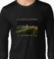 Adelaide Riverbank at Night III (poster on black) Long Sleeve T-Shirt