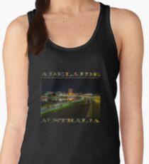 Adelaide Riverbank at Night III (poster on black) Women's Tank Top