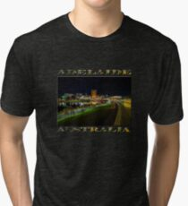 Adelaide Riverbank at Night III (poster on black) Tri-blend T-Shirt