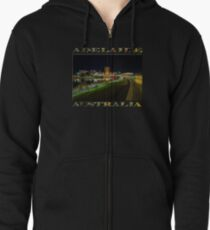 Adelaide Riverbank at Night III (poster on black) Zipped Hoodie
