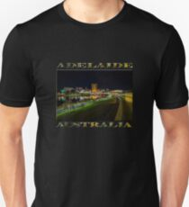 Adelaide Riverbank at Night III (poster on black) Unisex T-Shirt