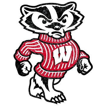 University of Wisconsin Badger Watercolor by bumblebre1544