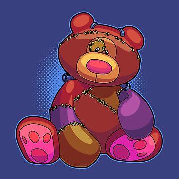 Horror Teddy Bear 1 by artdyslexia