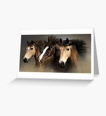 Equine Dreams Horse Portrait Greeting Card