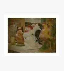 Antique Chickens For Sale Art Print