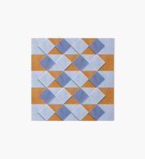 Pastel Coloured Wooden Pattern Art Board