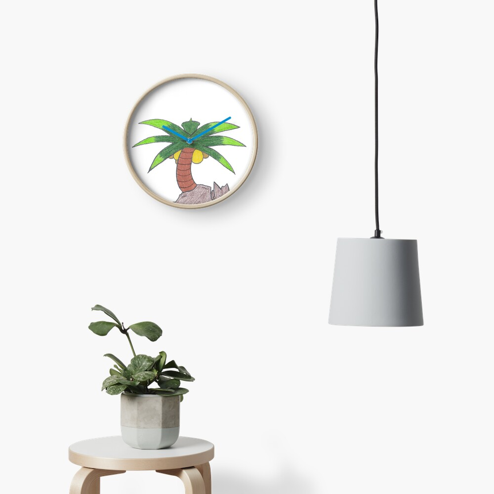 Merch #19 -- Palm Atop The Rugged Embankment Clock