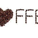 Love coffee, coffee sign, coffee bean, coffee bar sign, coffee love, coffee addict, coffee lover gift by bwatkinsphoto