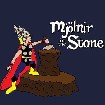 Mjolnir in the Stone (Comic Helmet Version) by leidemera