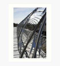 Razor Wire Art Print