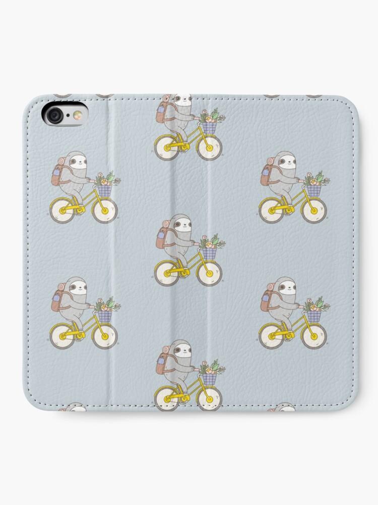 Alternate view of Biking Sloth  iPhone Wallet