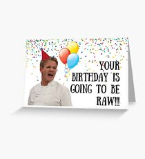 Gordon Ramsay birthday card, Food birthday card, Chef birthday card, Pun birthday card, Celebrity chef card, quotes, meme greeting cards Greeting Card