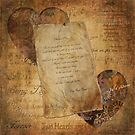 Two Hearts are One - Vintage Romantic Steampunk Art by Skye Ryan-Evans