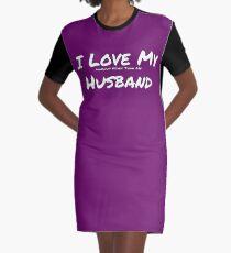 I Love My 'Makeup More Than My' Husband Graphic T-Shirt Dress
