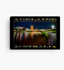 Adelaide Riverbank at Night VI (poster on black) Canvas Print