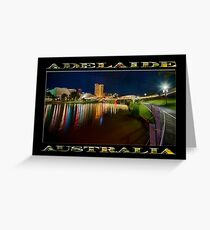 Adelaide Riverbank at Night VI (poster on black) Greeting Card