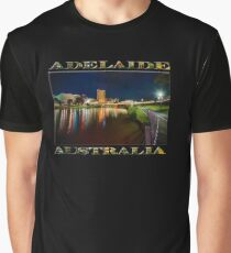 Adelaide Riverbank at Night VI (poster on black) Graphic T-Shirt
