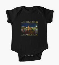 Adelaide Riverbank at Night VI (poster on black) Short Sleeve Baby One-Piece
