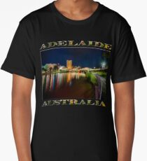 Adelaide Riverbank at Night VI (poster on black) Long T-Shirt