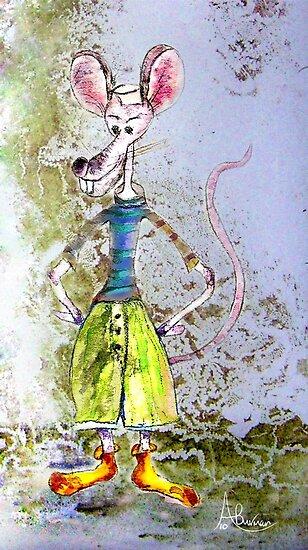 Salty The Sailor Rat by Angela  Burman
