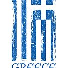Greek Flag Distressed Vertical by Anartsysoul