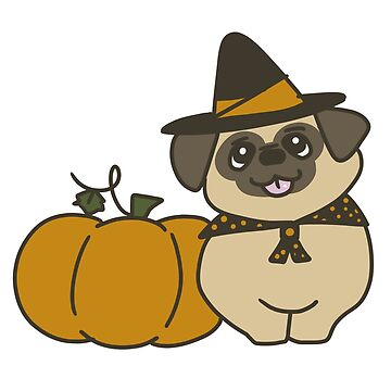 Pugkin-Patch Witch by teaforest