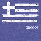 Greek Flag Distressed - One Color by Anartsysoul