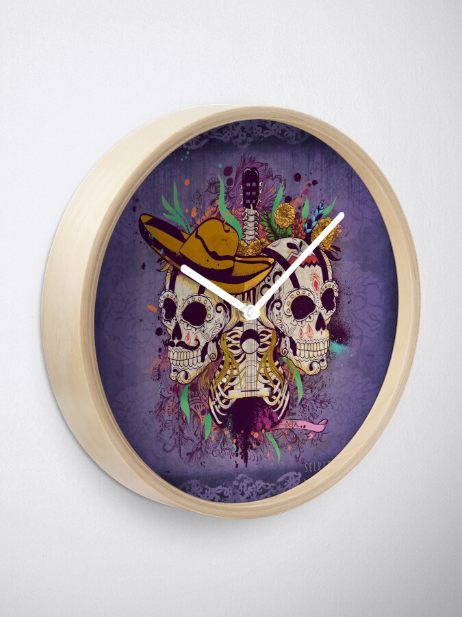 Alternate view of Day of the dead Clock