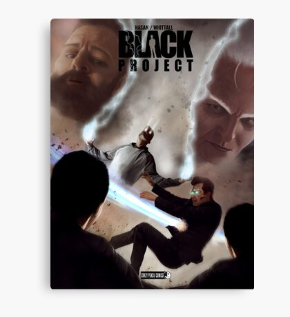 BLACK PROJECT BOOK ONE ENTER THE NEXUS COVER BY MASSIMO MODA Canvas Print