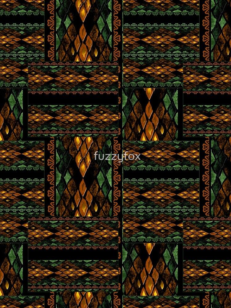 Digital snake pattern. a snake's skin. by fuzzyfox