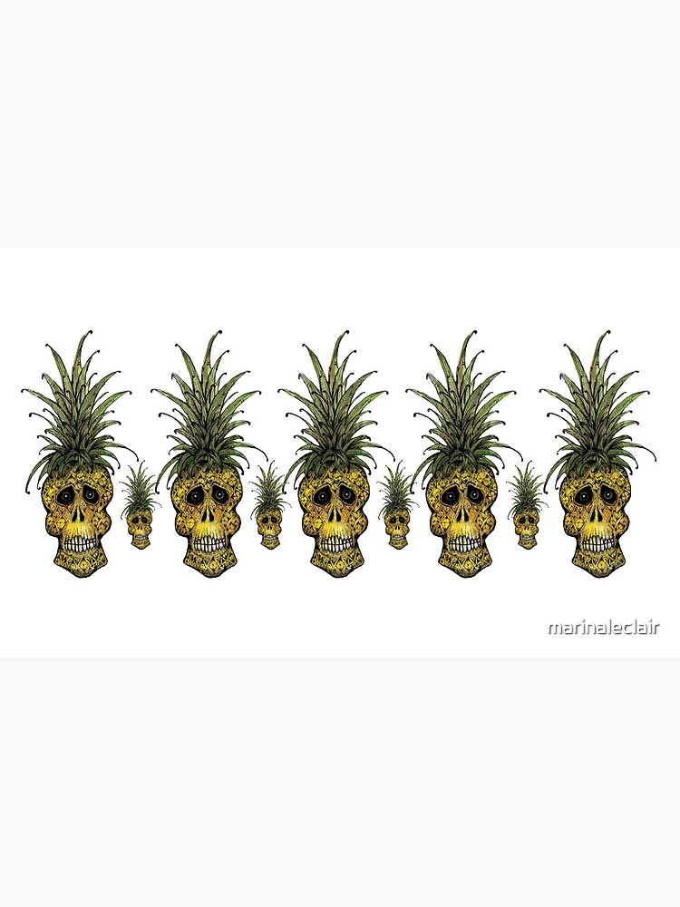 Pineapple Skull  by marinaleclair